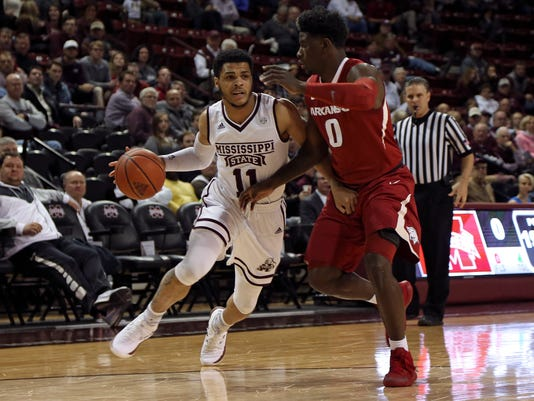 NCAA Basketball: Arkansas at Mississippi State