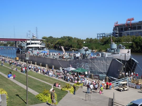 The USS LST 325 had a great turnout in Nashville. It  will be in Clarksville from Sept. 6-16.
