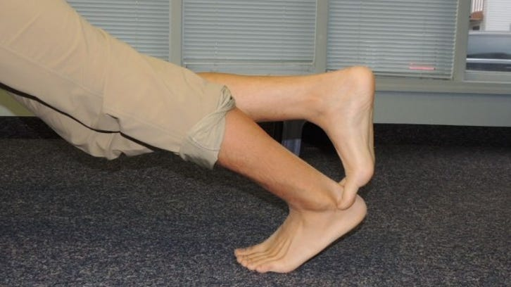 Rocking ankle mobilization (finish position)
