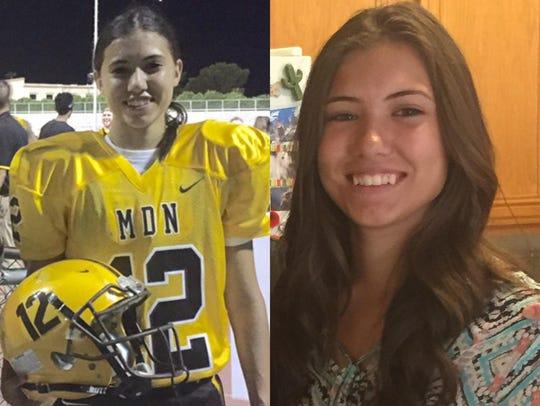 Krysten Muir, Marcos de Niza High School's kicker,