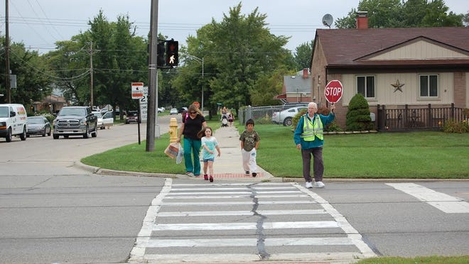 After 39 years, Betty Kraska has lowered her stop sign.