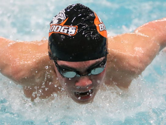Cedarburg's Josh Bote competes in the 200-yard individual