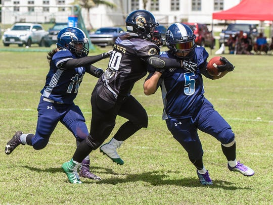 The Island Stunnerz and the Steel Blazing Saints battled
