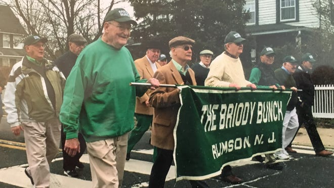 John Sullivan marches with the Briody Bunch in the Rumson St. Patrick's Day Parade. His family and community remembered him on Sunday a year after his sudden death.