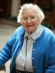 Dr. Katherine L. Esterly, seen here in 2013, died Tuesday. She was 89.