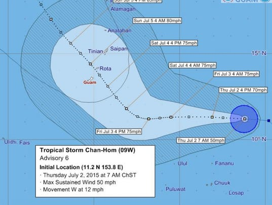 Tropical Storm Cha-hom 070315 7AM