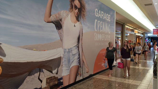 Garage opens Wednesday or Thursday in Grand Chute's Fox River Mall.