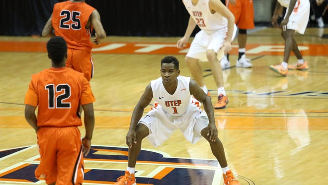 UTEP guard Dominic Artis (1) and the Miners will have an Orange-White scrimmage on Saturday.