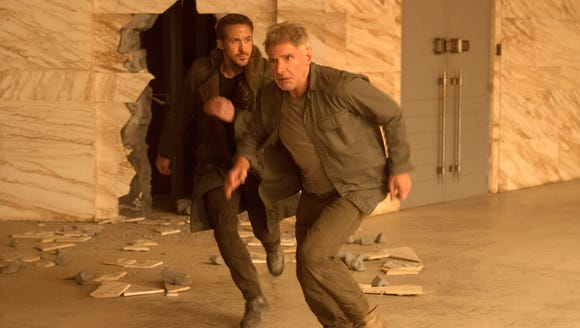 Ryan Gosling (left) and Harrison Ford are on the run