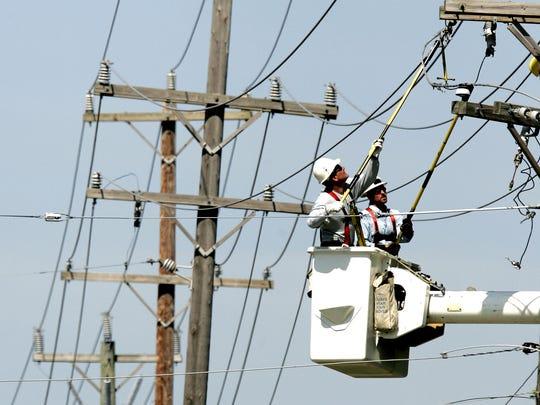 DTE Energy lineman.