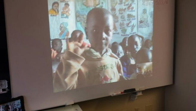 Asbury Park students greet their peers at HIP Academy in Kenya, Africa.