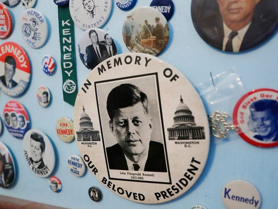 John F. Kennedy memorabilia in the collection of local