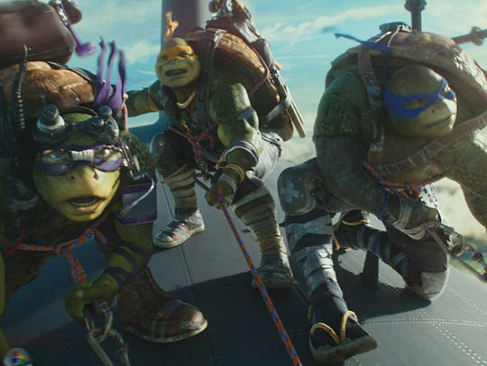Leonardo, Michelangelo and Donatello take to the skies