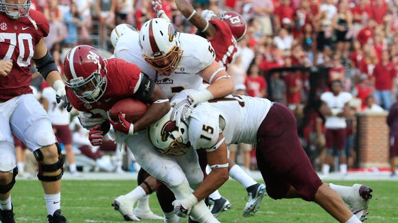 Moore (15) made 24 tackles in 10 appearances for ULM