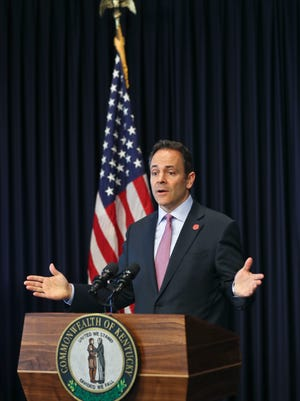 """""""We've got a policing problem in the city of Louisville,"""" said Gov. Matt Bevin during his 2017 year in review to reporters in Frankfort Thursday morning. """"When the city sets aside one and a half million dollar for extra crime fighting and half of it's gone in the first six weeks of the year, and it goes to a handful of people who are working full-time plus 120 hours of overtime,"""" he added, """"some of them with extra jobs, don't tell me the system's not broken. It's a joke."""""""