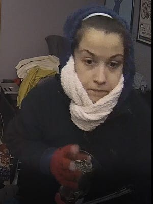 Germantown police have released this photo of a suspect they believe is responsible for three burglaries and one attempted burglary in the village. The photo was taken from a camera in one of the victims' homes.