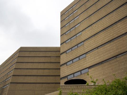 May 11, 2017: Hamilton County Justice Center, Jail, building mug, Cincinnati, Sheriff's office. Liz Dufour