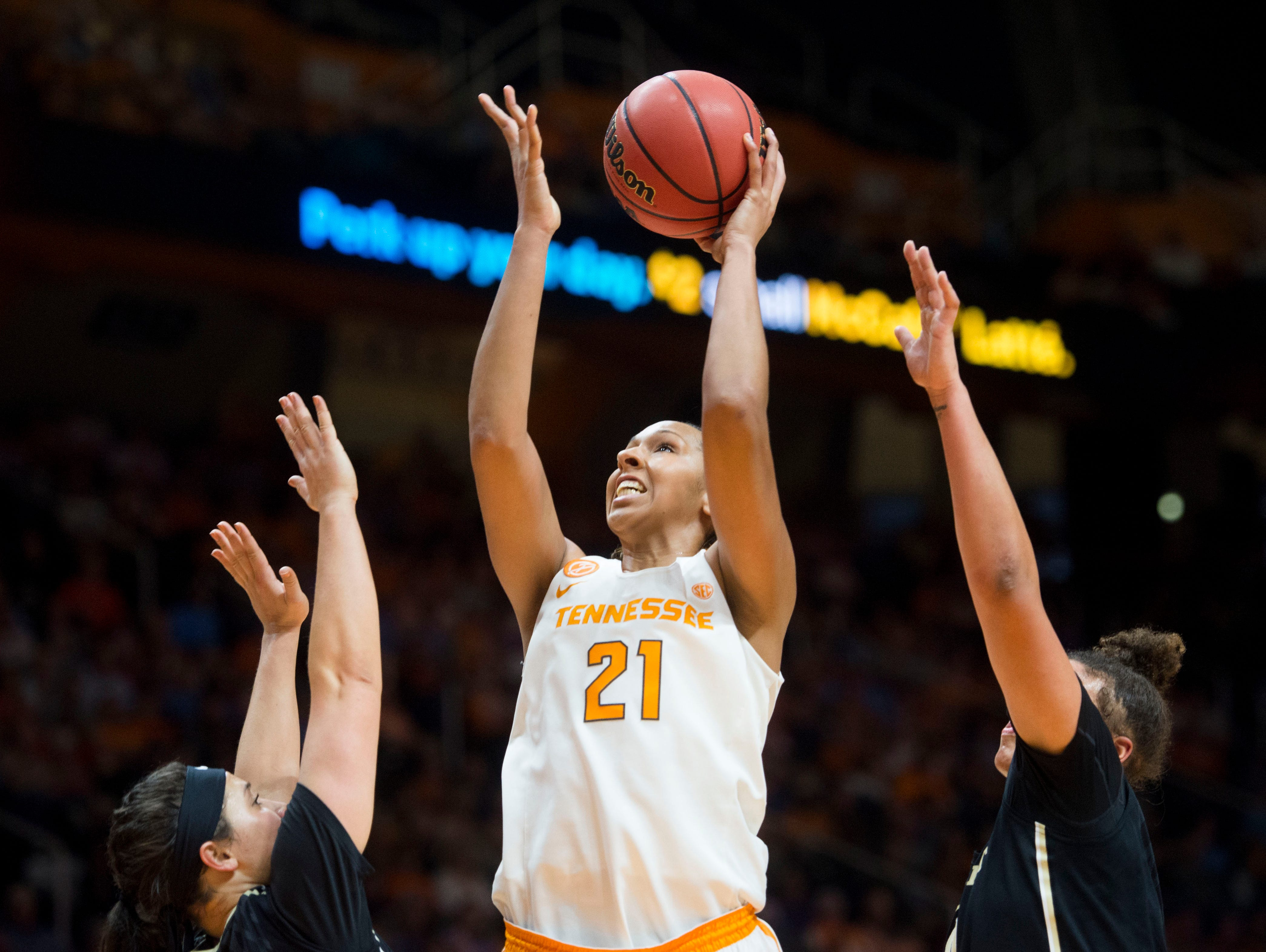 Tennessee's Mercedes Russell will contend with Dayton post players Saturday in the NCAA tournament who can look her squarely in the eye.