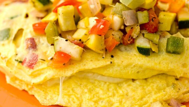 The vegetable omelet from Scramble in Sunnyslope.