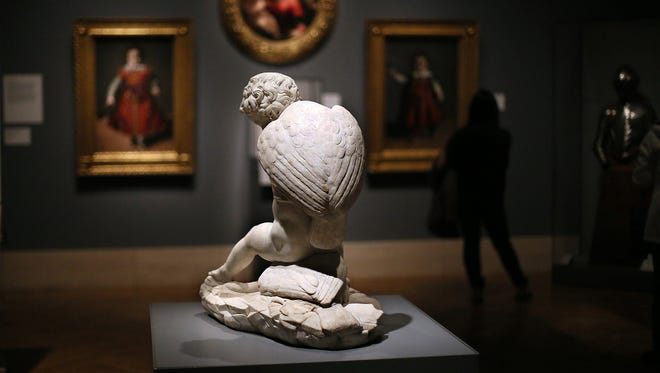 "The ""Putto and Geese"" marble sculpture can be seen at the Detroit Institute of Arts. The Detroit Three automakers will help the museum raise $100 million."