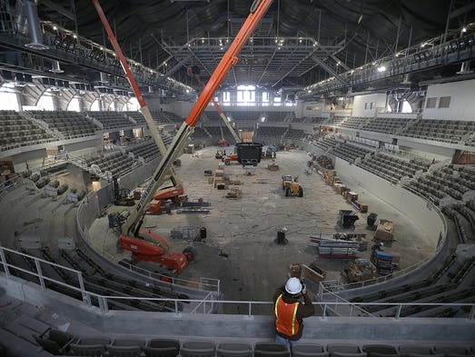 Construction is in the home stretch on the the Indiana State Fair's $63-million Coliseum renovation project. The renovation project that started in October of 2012 is scheduled to be complete with a ribbon cutting on April 24th.