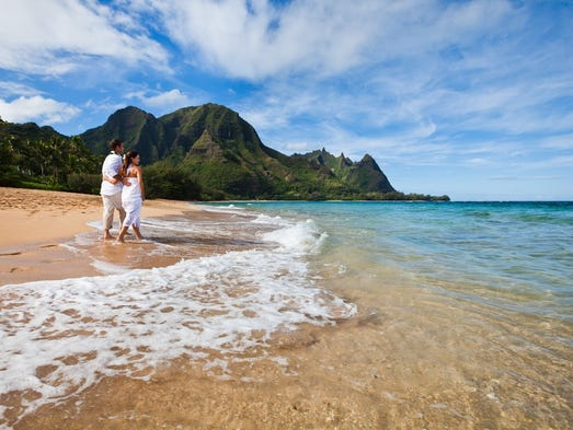 Thinking of a special anniversary trip? Seclusion, rugged natural beauty and outdoor adventure attract couples to the shores of Kauai, Hawaii's oldest major island.
