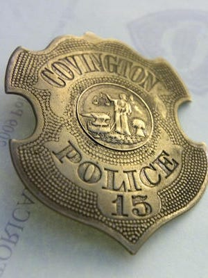 A Covington police badge from the 1880s is part of the collection of the Historical Police Exhibit, which opened Sunday, June 28, 2009 at the James A. Ramage Civil War Museum in Ft. Wright.