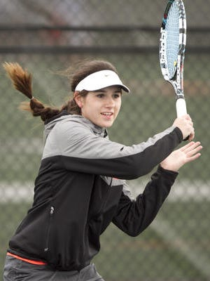 Maddie Miller was the one-singles flight winner as Brighton defeated Salem, Livonia Churhill and Walled Lake Central to win its quad meet.