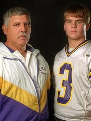 Former Logansport coach Dale Morvan (left) and Kevin