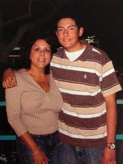 This file photo shows former Assemblywoman Bonnie Garcia with her son, Javier Garcia Jr. He was friends with Becky Friedli, who was one of the victims in the 2006 Pinyon Pines murders, and testified in the trial of two suspects.