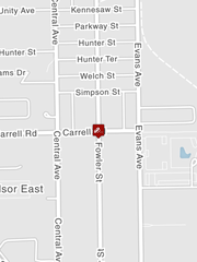 Crash closed Fowler Street at Carrell Rd.