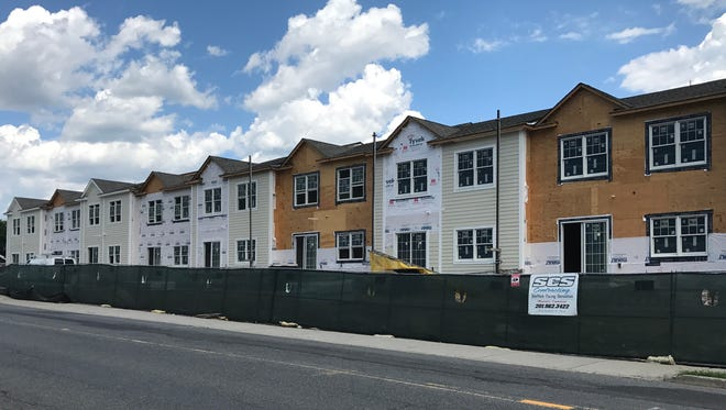A portion of Belmont Estates townhomes are slated to be available for move-in Sept. 1.