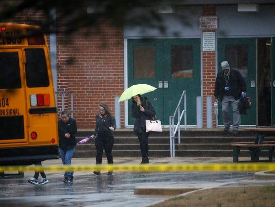 Teachers and school employees depart Great Mills High
