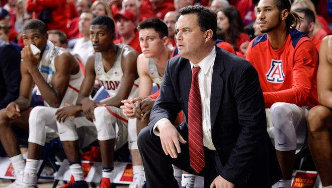 Arizona Wildcats head coach Sean Miller.