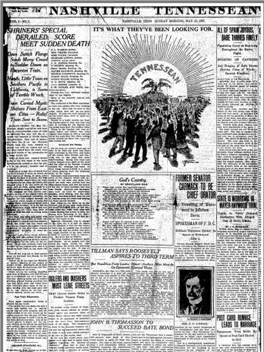 First issue of the Tennessean