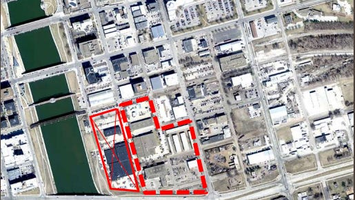 A city of Des Moines proposal offered up five blocks, two of them owned by MidAmerican Energy and three owned by the city, to accommodate a $137 million new federal courthouse.