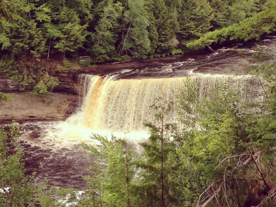 Tahquamenon Falls is found near Newberry in the eastern