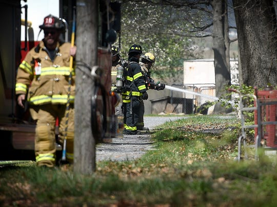 Firefighters were called to 551 Beagle Road in Bethel Township Wednesday, April 20, for a barn fire. Wind picked up debris from a controlled burn spread to the barn causing the fire. The first official on the scene reported flames shot up six feet, although the fire was quickly contained.