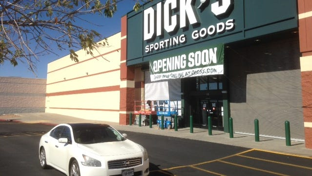 Dick's Sporting Goods plans to open its second El Paso store Monday in Sunland Plaza at 801 Sunland Park Drive on the West Side.