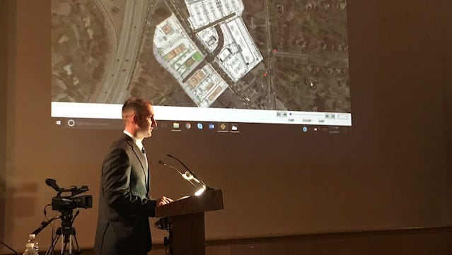 Jess Sudol of Passero Associates gave a traffic presentation on the Whole Foods project at a Brighton Town Board meeting Tuesday.