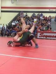 Wrightstown senior Bryce Herlache won the 182-pound weight class on Saturday at the WIAA Division 2 Seymour sectional.