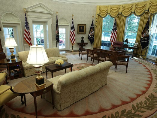 Trump Picks Discontinued Wallpaper White House Places