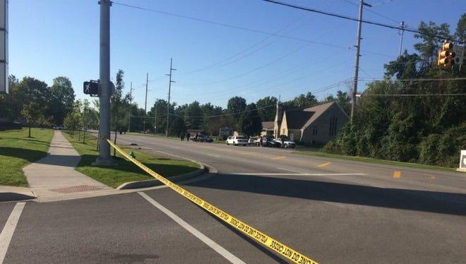 Scene of fatal hit-and-run accident on North Michigan Road, near Kessler Boulevard, on Thursday, Sept. 22, 2016.