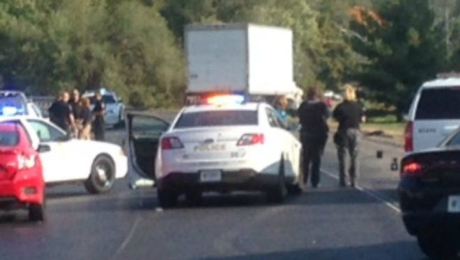 A woman on a bicycle was struck and killed by a box truck near Ind. 37 and County Line Road in Greenwood on Oct. 12, 2016.