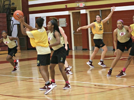 Riverdale players scrimmage during Monday's first day
