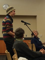 Eli Shepherd, 19, addresses the Charter Review Commission