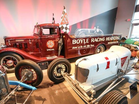 The fully restored Boyle Race Car Hauler, a 1934 Diamond