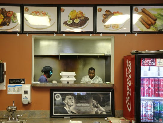 Maty's African Cuisine proprietors Maty, left, and