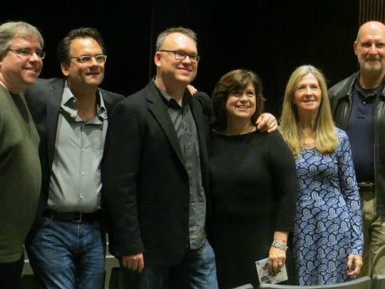 Left to right, Shawn Poole, board member of the Friends of the Bruce Springsteen Special Collection; filmmaker Thom Zimny; Christopher Phillips, Friends president; Melanie Paggioli , Friends executive director; Eileen Chapman, Monmouth University; and Kevin Farrell, Friends board member.