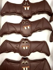 Fanged yet friendly-looking, a batch of marzipan bats